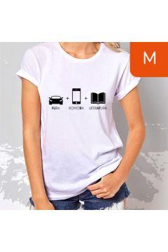 TanioKsiążkowa Koszulka damska, biała, rozmiar M. Fura, komóra, literatura