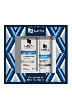 Men Sensitive nawilżający żel do golenia do skóry bardzo wrażliwej 200ml + nawilżający balsam po goleniu 100ml