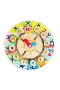 Puzzle drewniane Zegar z pinezkami - Labirynt mysz