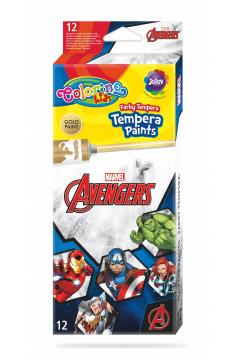 Farby Colorino Kids tempera w tubach 12 kolorów 12 ml Avengers