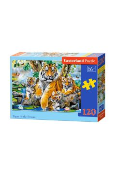 Puzzle 120 Tigers by the Stream CASTOR