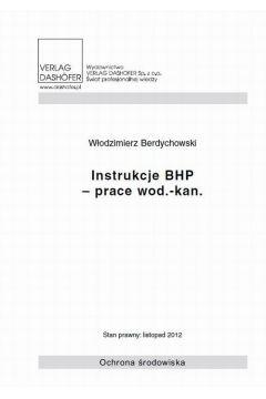 Instrukcje BHP- prace wod.- kan.