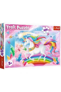 Puzzle 100 Krzyształowy świat Jednorożców TREFL