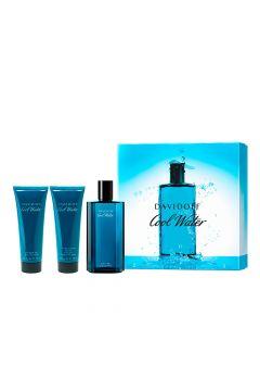 Zestaw dla mężczyzn Woda toaletowa Cool Water Men + Żel pod prysznic + Balsam po goleniu