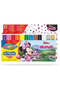 Pastele olejne Colorino Kids trójkątne 12 kolorów Minnie