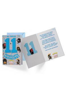Karnet B6 PR-312 Urodziny 11