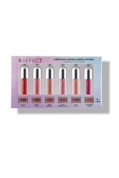 AFFECT_SET 6 Mini Long-Lasting Liquid Lipsticks zestaw mini pomadek w płynie 6x1,
