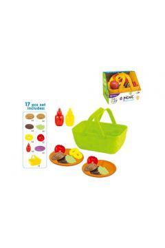 Warzywa i owoce w koszyku 17 elementów