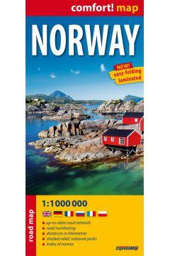 Norwegia mapa samochodowa 1:1000 000