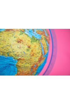 Podświetlany globus z mapą fizyczną, polityczną i aplikacją