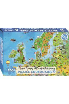 Mapa Europy Młodego Odkrywcy Puzzle edukacyjne