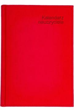 Kalendarz nauczyciela B5 2021/2022 tyg. czerwony