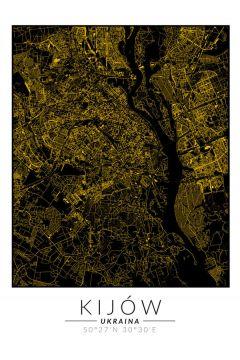 Kijów złota mapa. Plakat