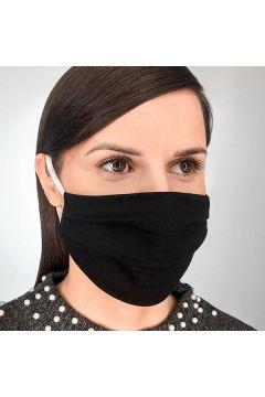 Maska wielorazowa bawełniana jednowarstwowa czarna L