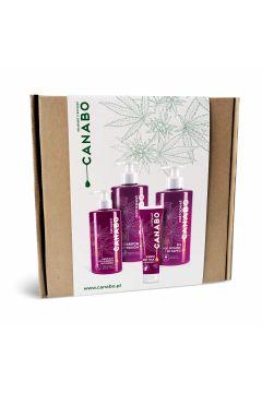 Zestaw Konopie - Ostropest (krem do rąk + emulsja do higieny intymnej + żel pod prysznic + szampon)