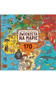 Puzzle. Zwierzęta na mapie