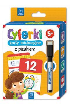 Cyferki karty edukacyjne z pisakiem. 5+