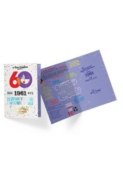 Karnet B6 PR-304 Urodziny 60 2021