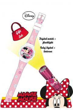 Zegarek cyfrowy z latarką LED Myszka Minnie WD16848