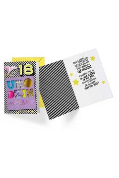 Karnet B6 DK-771 Urodziny 18