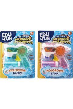 Pistolet do robienia baniek mydlanych mix Edu&Fun