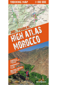Trekking map High Atlas Morocco 1:100 000
