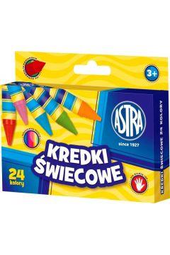 Kredki Świecowe 24 kolory bls ASTRA