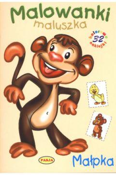 Malowanki maluszka - Małpka PASJA