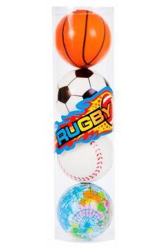 Piłka antystresowa 7 cm mix kolor MEGA CREATIVE 460031
