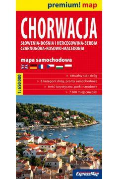 Premium!map Chorwacja, Słowenia, Bośnia mapa