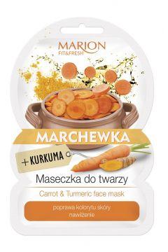 Fit&Fresh Face Mask maseczka do twarzy poprawa kolorytu i nawilżenie Marchewka & Kurkuma