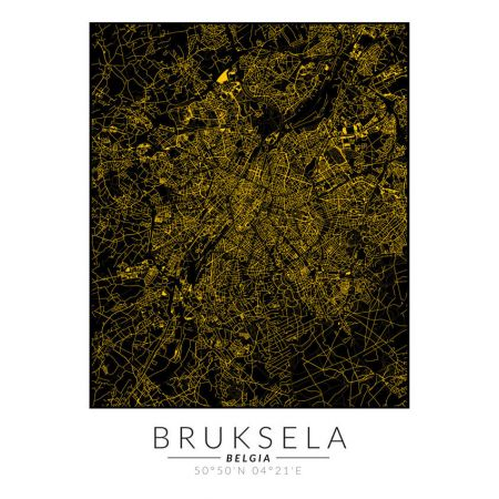 Bruksela złota mapa. Plakat