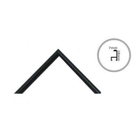 Rama B2 czarna aluminium 50x70 cm