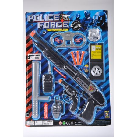 Zestaw policyjny  z akcesoriami MEGA CREATIVE 460205