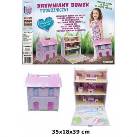 PROMO Domek drewniany walizka NO-1001594