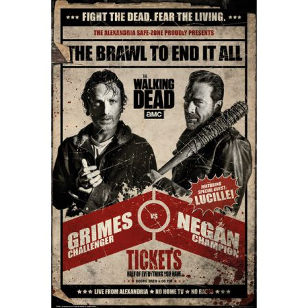 The Walking Dead Fight Rick i Negan - plakat