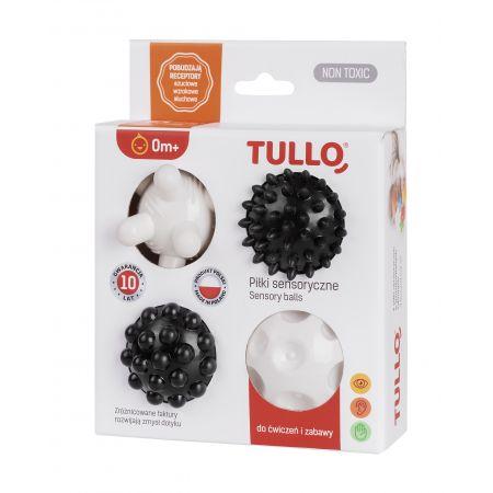 Piłki sensoryczne czarno-białe 4 szt.