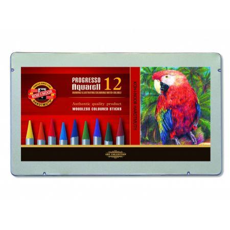 Kredki Koh-i-Noor progresso 8782 aquarell 12 kolorów