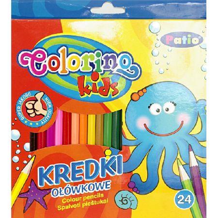 Kredki ołówkowe heksagonalne Colorino kids 24 kolory