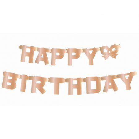 Girlanda B&C Happy Birthday metaliczna