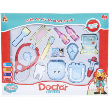 Zestaw lekarski dentysta plus akcesoria MEGA CREATIVE 462473