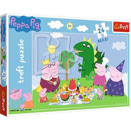 Puzzle 24 maxi Świnka Peppa - Uczta TREFL