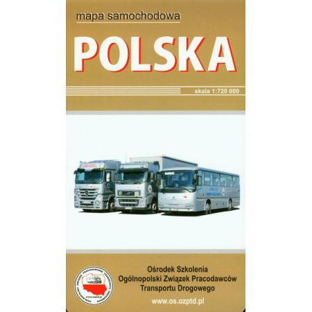 Polska mapa samochodowa w twardej okładce
