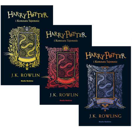 Pakiet Harry Potter i Komnata Tajemnic. Wydanie Jubileuszowe. Edycja Domów: Hufflepuff, Gryffindor, Ravenclaw