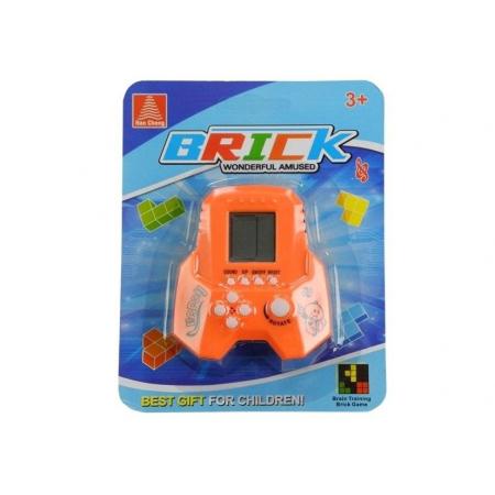 Gra elektroniczna Tetris Bricks rakieta pomarańczowy