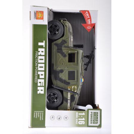 Auto wojskowe z dźwiękiem i światłem MEGA CREATIVE 459860