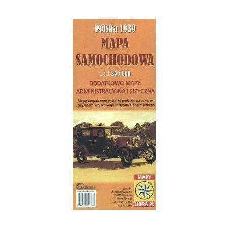 Mapa samoch. PolskA 1939 1:1 250 000