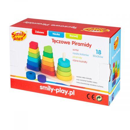 Piramidka drewniana 23X8X14 PLX PUD SMILY PLAY AC7319 AN1