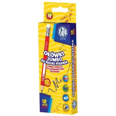 Ołówki Jumbo do nauki pisania (12szt) ASTRA