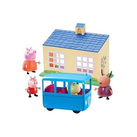 Peppa Pig - zestaw szkoła + autobus